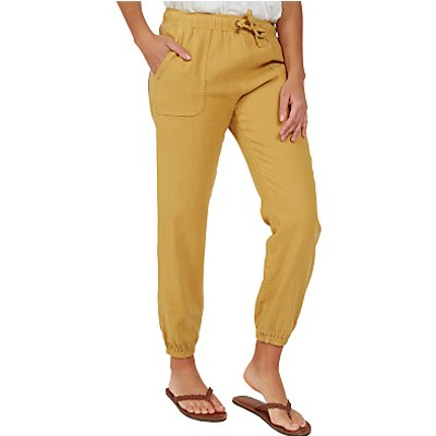 Fat Face Linen-Blend Drawstring Trousers