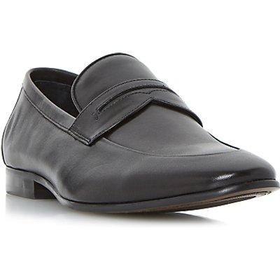 Dune Penny Saddle Loafers, Black