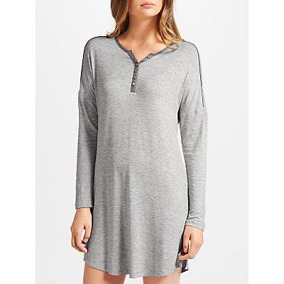 23462380 | John Lewis Space Dye Lounge Nightdress  Ivory Grey Store