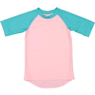Polarn O. Pyret Children's Short Sleeve UV Swim Top, Pink