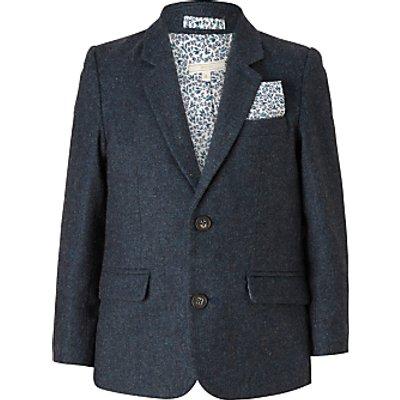 John Lewis Heirloom Collection Boys' Flap Pocket Wool Blazer Jacket, Teal