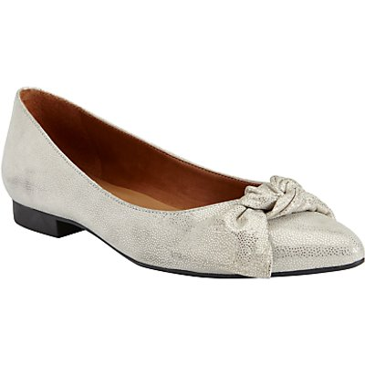 John Lewis Heather Tie Trim Ballet Pumps