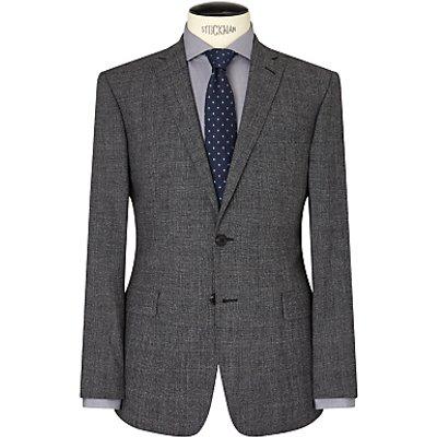 Richard James Mayfair Jaspe Check Wool Slim Suit Jacket, Grey