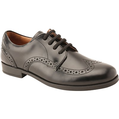 Start-rite Brogue Senior Leather Lace-up School Shoes, Black
