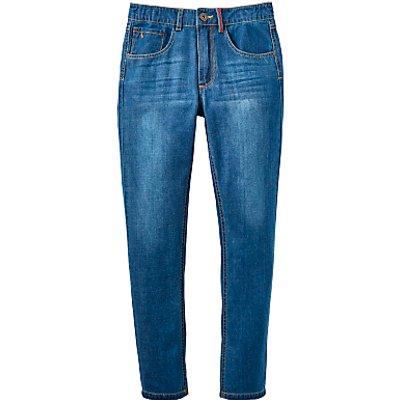 Little Joule Boys' Junior Ted Jeans, Mid Wash Denim