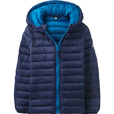Little Joule Boys' Junior Cairn Pack Away Puffer Jacket, Navy