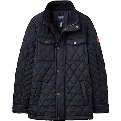 Little Joule Boys' Junior Stafford Quilted Jacket, Navy