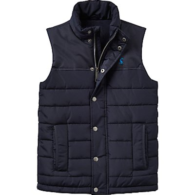 Little Joule Boys' Junior Match Day Gilet, Navy