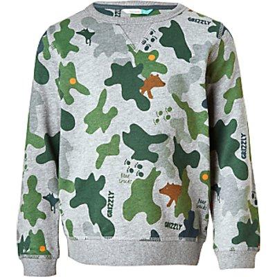 John Lewis Boys' Print Sweatshirt, Camouflage