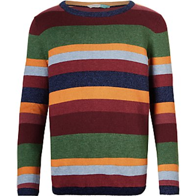 John Lewis Boys' Striped Knitted Jumper