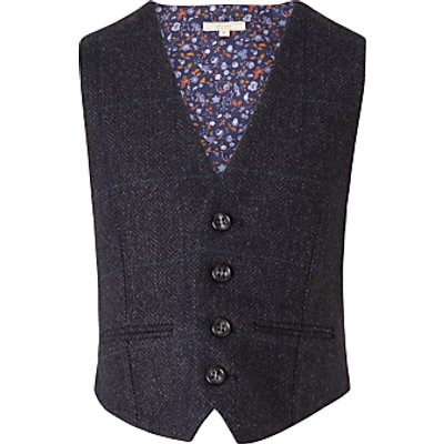 John Lewis Heirloom Collection Boys' Herringbone Waistcoat, Blue