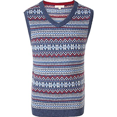 John Lewis Boys' Heirloom Fair Isle Knit Tank Top, Multi