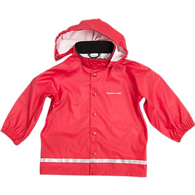 Polarn O. Pyret Children's Raincoat, Red