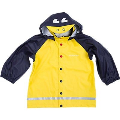 Polarn O. Pyret Children's Duck Raincoat, Yellow