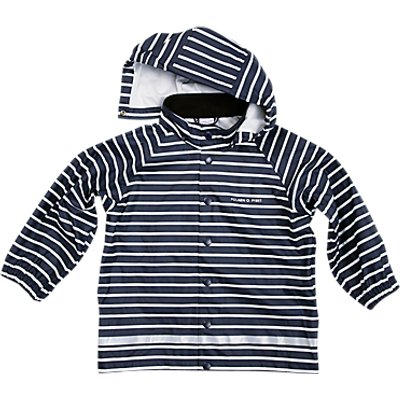 Polarn O. Pyret Children's Striped Raincoat, Blue