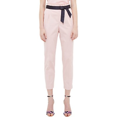 Ted Baker Verbo Ruffle Waistline Cotton Blend Trousers