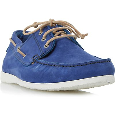 Dune Belize Nubuck Lace-Up Boat Shoes, Blue