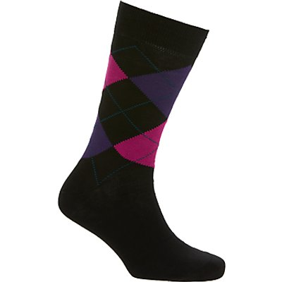 John Lewis Made in Italy Egyptian Cotton Argyle Dot Socks, Pack of 2