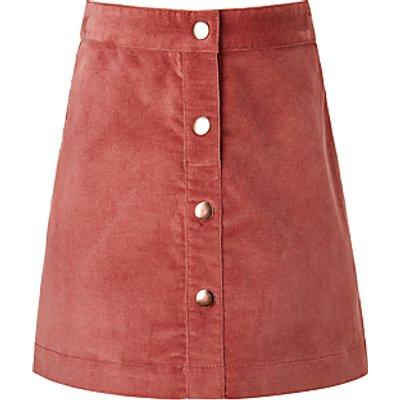 John Lewis Girls' Moleskin Skirt, Sorbet
