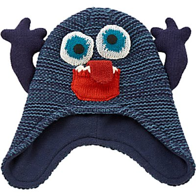 John Lewis Children's Monster Trapper Hat, Blue