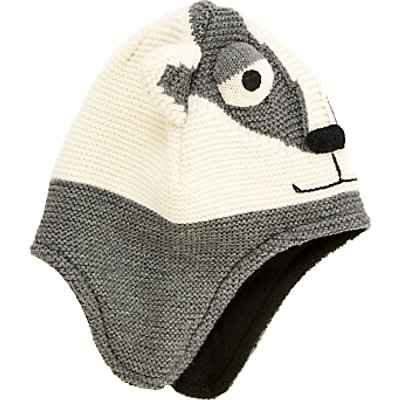 John Lewis Children's Badger Trapper Hat, Grey
