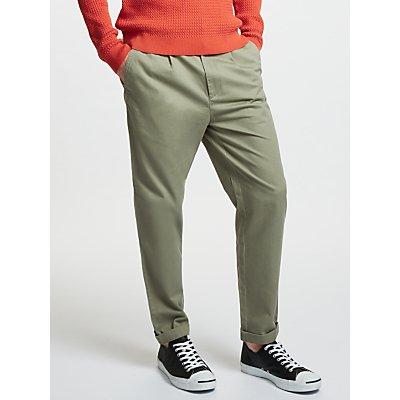 Kin by John Lewis Front Pleat Trousers, Stone