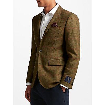 John Lewis Multicheck Tailored Blazer, Green