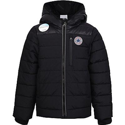 Converse Boys' Matte Shiny Jacket, Black