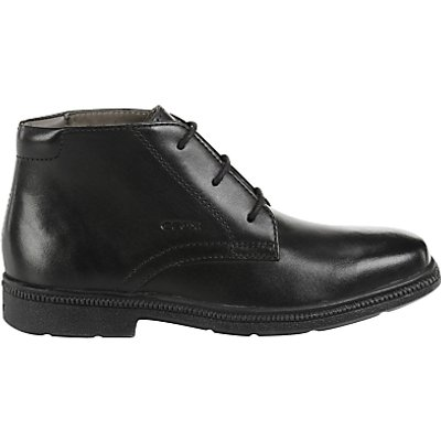 Geox Children's Federico Boots, Black Leather