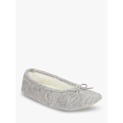 John Lewis Tape Back Ballet Slippers, Grey