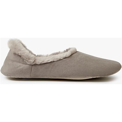 John Lewis Contemporary Closed Slippers, Grey