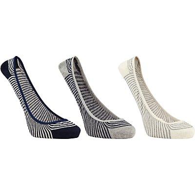 John Lewis Low Rise Ballerina Sock Liners, Pack of 3, Multi