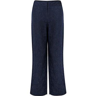 East Linen Stripe Trousers, Ink