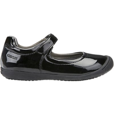 Geox Children's J Gioia 2 School Shoes, Black Patent