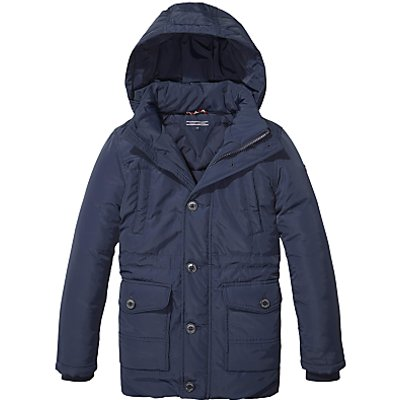 Tommy Hilfiger Boys' Padded Parka Jacket, Navy