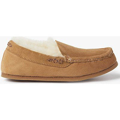 John Lewis Sheepskin Moccasin Slippers, Chestnut