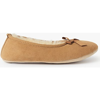 John Lewis Sheepskin Ballet Slippers, Chestnut