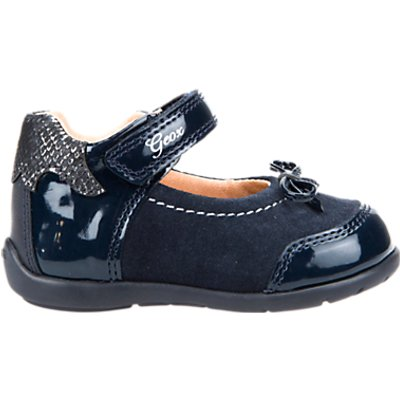 Geox Children's Kaytan Rip-Tape Mary Jane Shoes, Navy