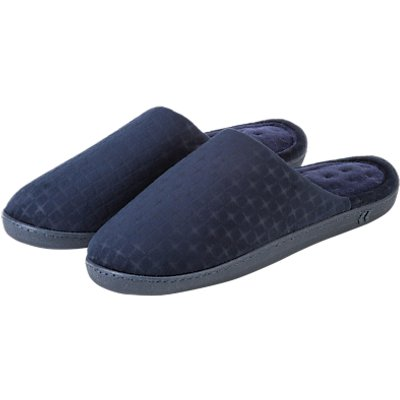 Tote Pillowstep Cotton-Poly Slippers, Navy