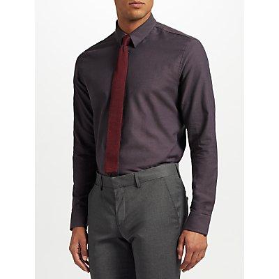 J. Lindeberg Dobby Slim Fit Shirt, Dark Grey