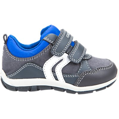 Geox Children's Shaax Rip Tape Trainers, Grey