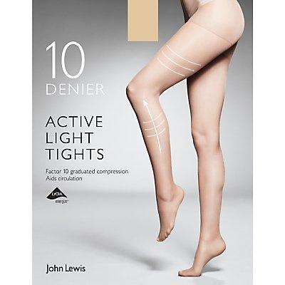John Lewis 10 Denier Firm Support Active Light Sheer Tights