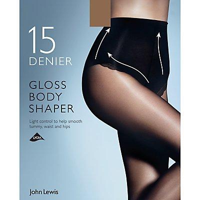 John Lewis 15 Denier Gloss Body Shaper Tights