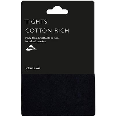 John Lewis 100 Denier Opaque Cotton Rich Tights