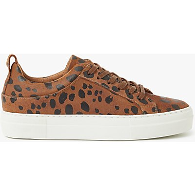 Pieces Paulina Leopard Print Trainers, Brown