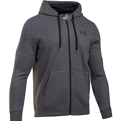 Under Armour Rival Fitted Graphic Hoodie, Grey