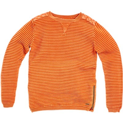 Angel & Rocket Boys' Ripple Knit Jumper, Orange
