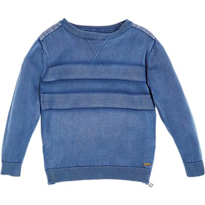 Angel & Rocket Boys' Stonewash Knit Jumper, Blue