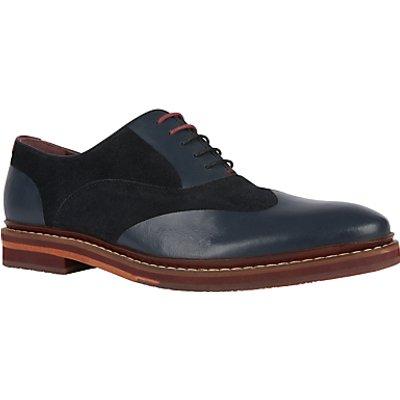 Ted Baker Saskat Oxford Suede Leather Shoes, Dark Blue