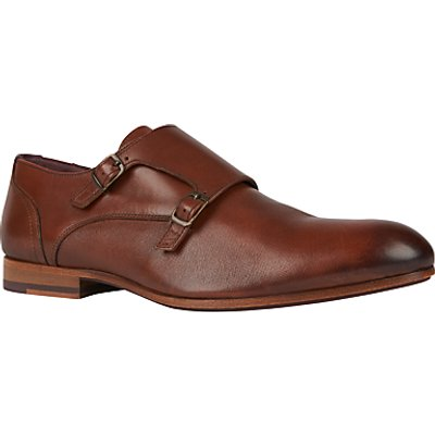 Ted Baker Valath Monk Strap Shoes, Tan